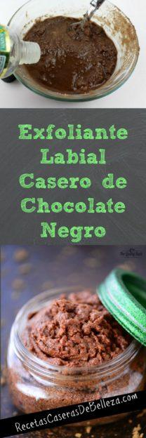 Exfoliante Labial Casero de Chocolate