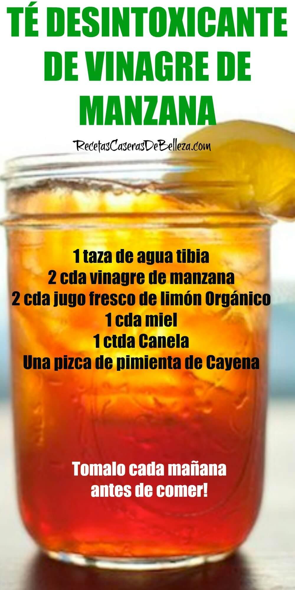 Canela miel de agua y manzana vinagre