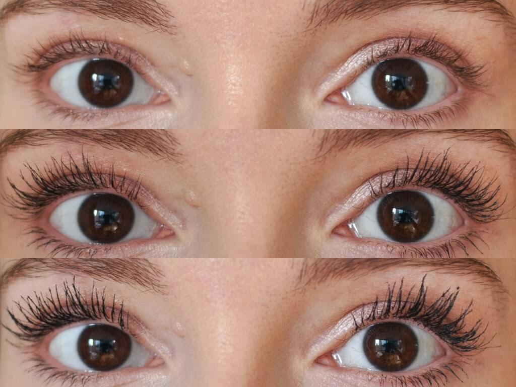 before and after eyelash growth