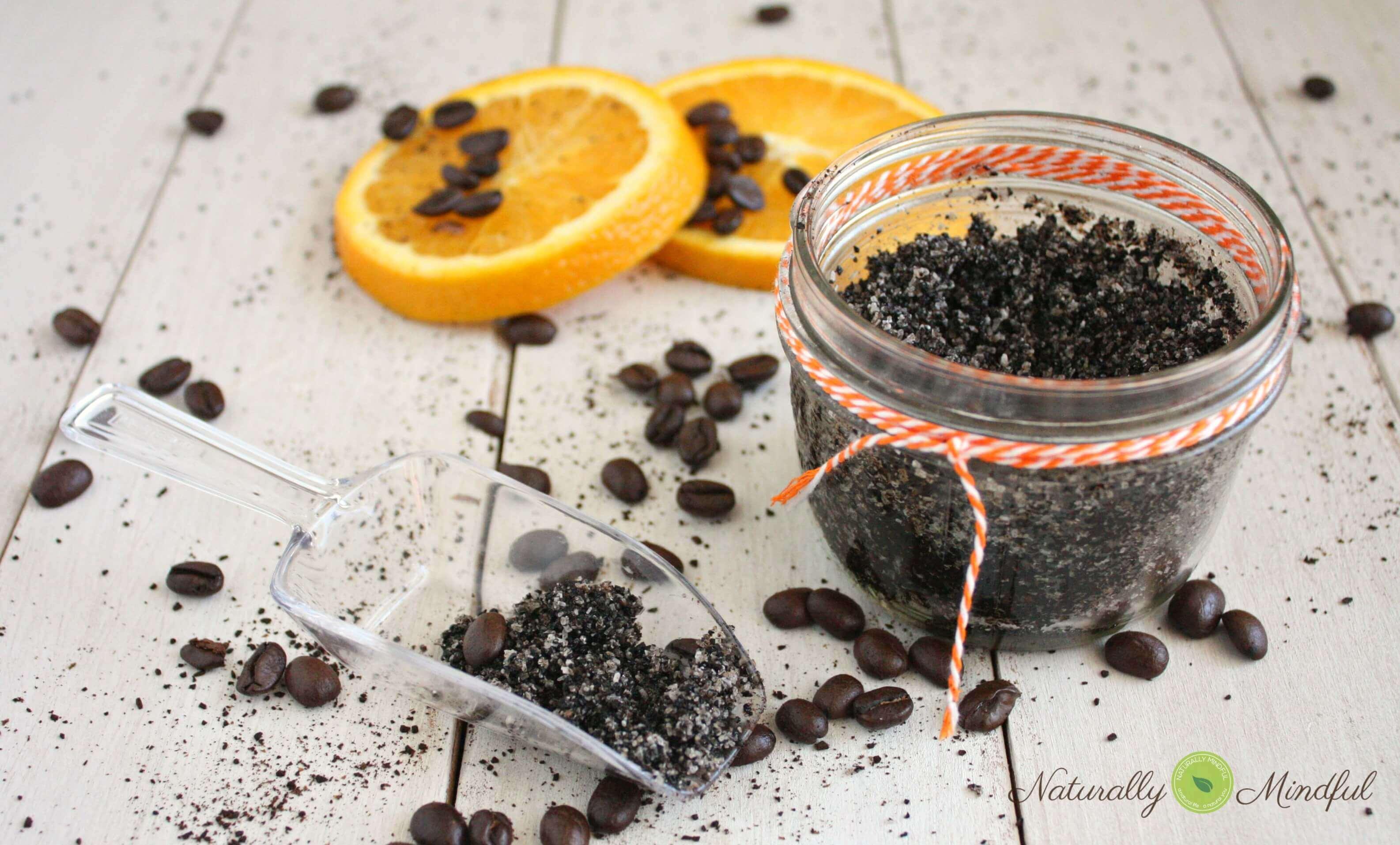 exfoliante de naranja y cafe