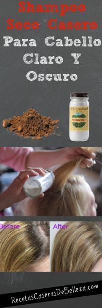 shampoo seco casero