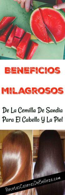 Cemilla de Sandía para el Cabello