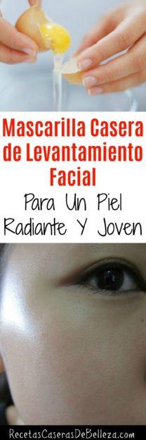 Mascarilla Casera de Levantamiento Facial