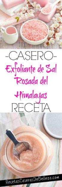 Exfoliante Casero de Sal Rosada
