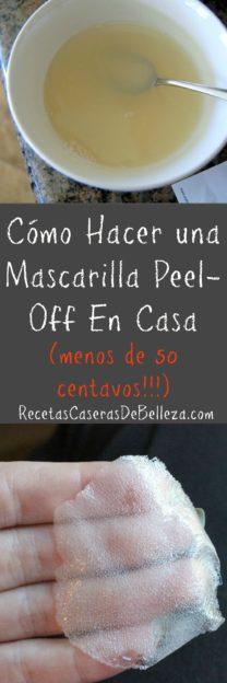 Mascarilla Peel-Off En Casa