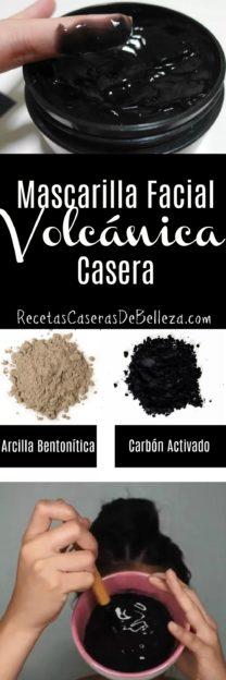Mascarilla Facial Volcánica Casera