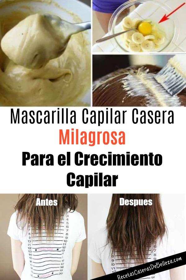 Mascarilla Capilar Casera milagrosa