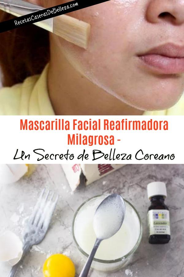 Mascarilla Facial Casera Reafirmadora