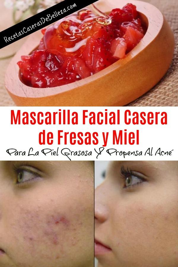 Mascarilla Facial Casera de Fresas y Miel