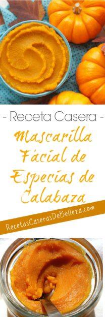 Mascarilla Facial de Especias de Calabaza