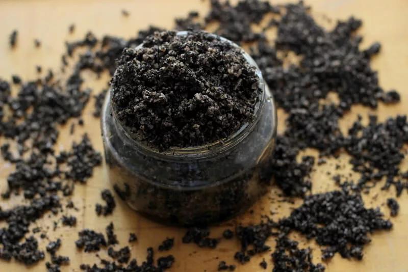 exfoliante de cafe y sal
