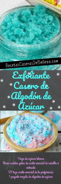 Exfoliante Casero de Algodón de Azúcar