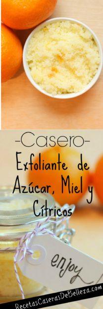 Exfoliante Casero de Azúcar, Miel y Cítricos