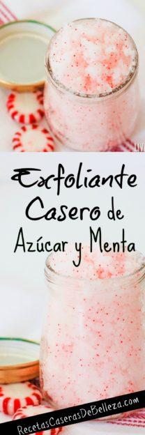 Exfoliante Casero de Azúcar y Menta