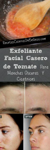 Exfoliante Facial Casero de Tomate
