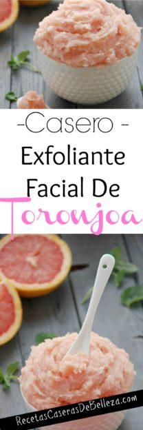 Exfoliante Facial Casero de Toronja