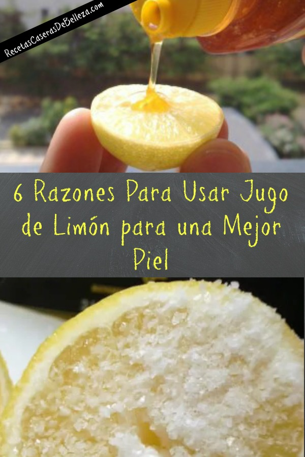 Jugo de Limón para una Mejor Piel