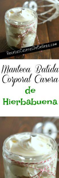 Manteca Batida Corporal Casera