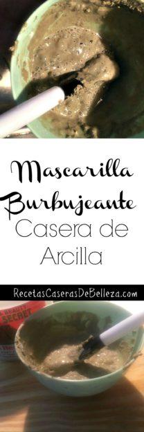 Mascarilla Burbujeante Casera