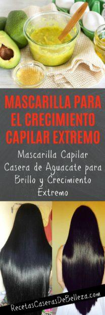 Mascarilla Casera Para el Largo Crecimiento Capilar