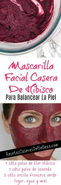 Mascarilla Facial Casera de Flor Hibisco