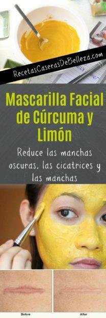 Mascarilla Facial de Cúrcuma y Limón