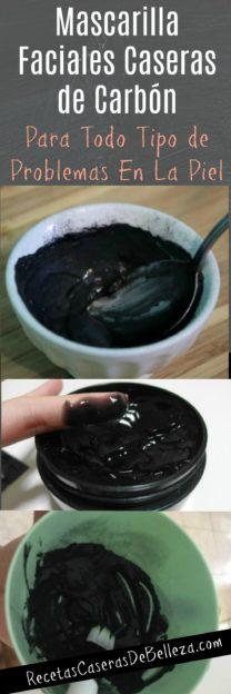 Mascarilla Faciales Caseras de Carbón