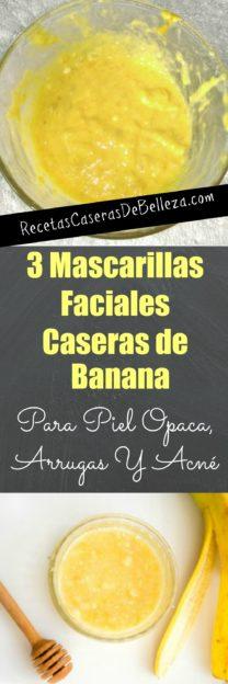 Mascarillas Faciales Caseras de Banana