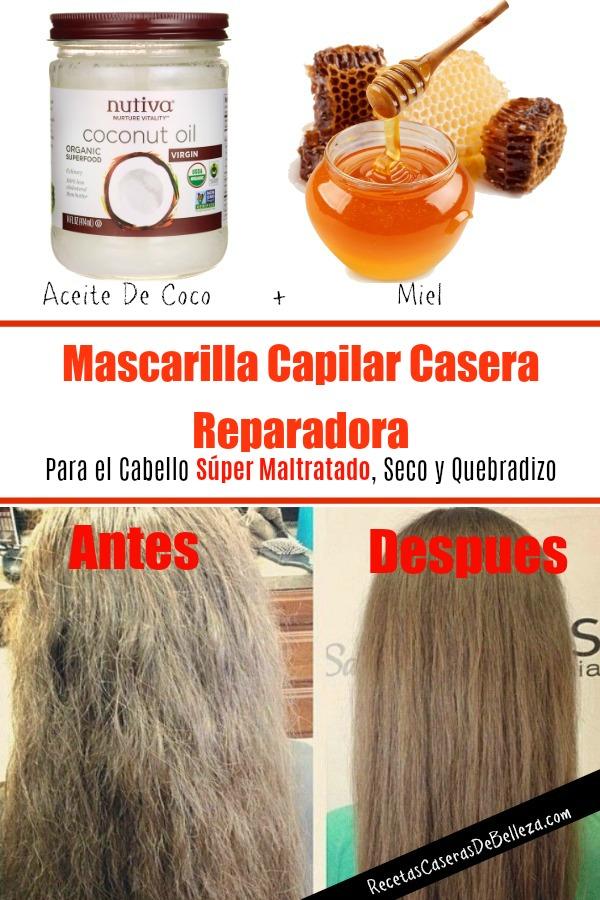 Mascarilla Capilar Casera Reparadora