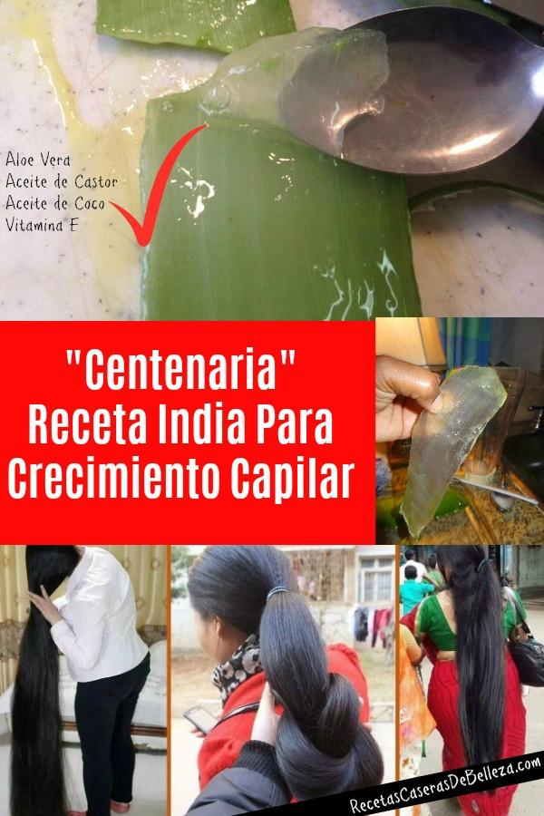 Receta India de Crecimiento Capilar