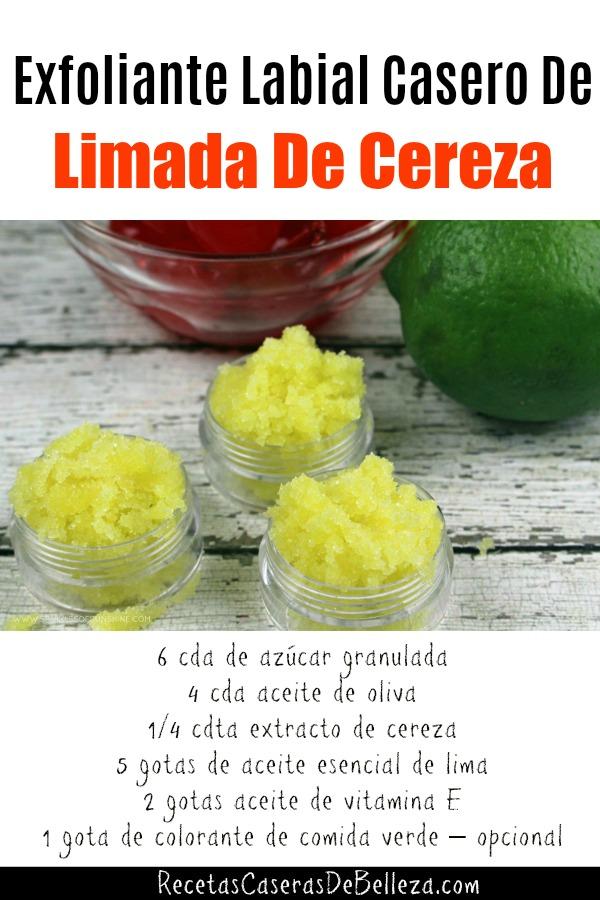 Exfoliante Labial Casero De Limada De Cereza