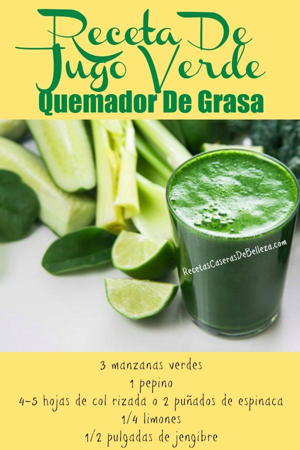 jugo verde quemador de grasa