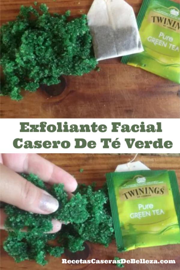 Exfoliante Facial Casero De Té Verde