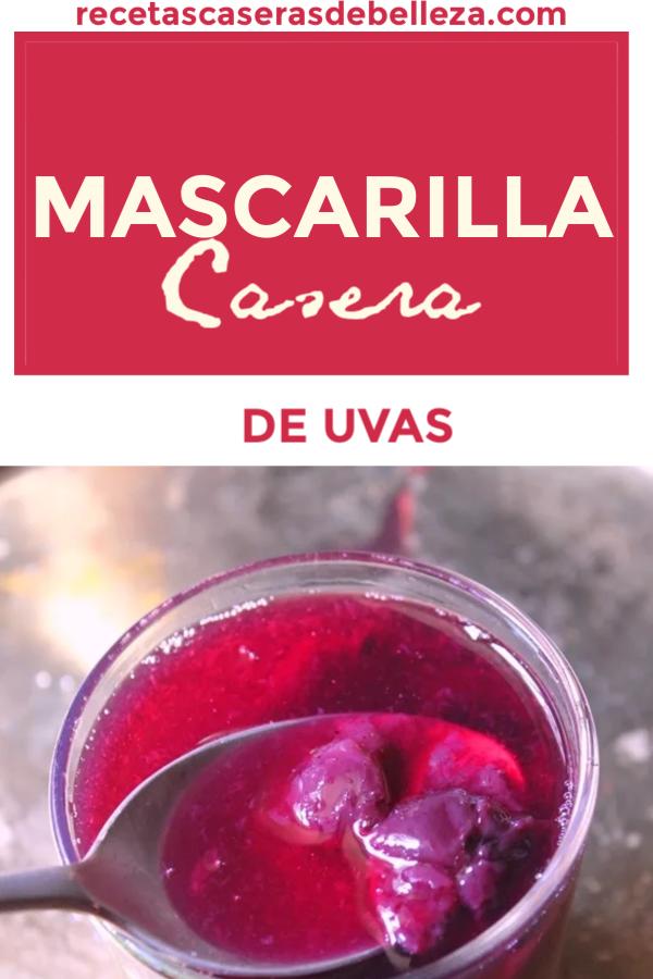 MASCARILLA FACIAL CASERA ANTIENVEJECIMIENTO DE UVAS