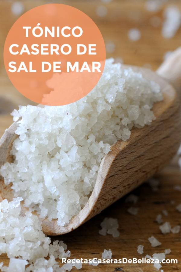 TÓNICO CASERO DE SAL DE MAR