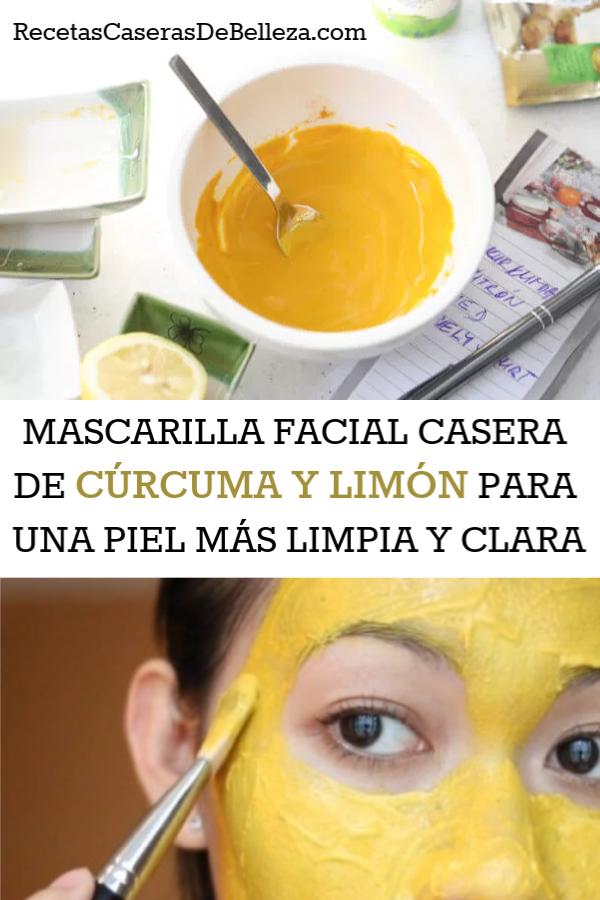 mascarilla facial casera de cúrcuma