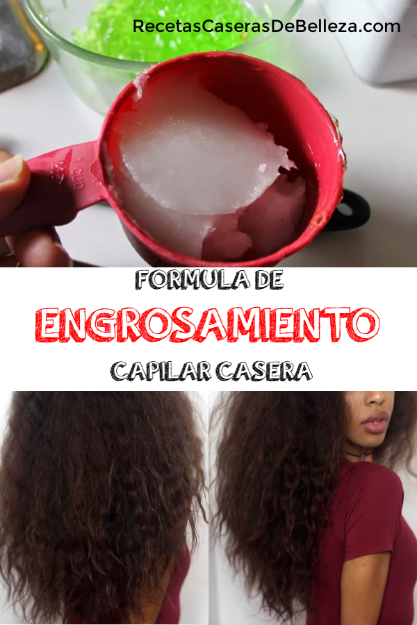 Fórmula De Engrosamiento Capilar Casera