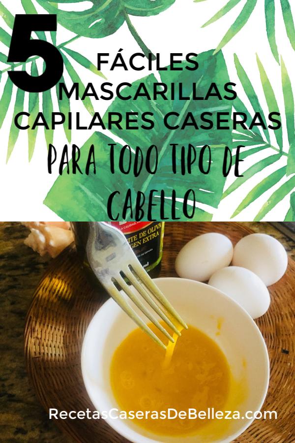 Mascarillas Capilares Caseras