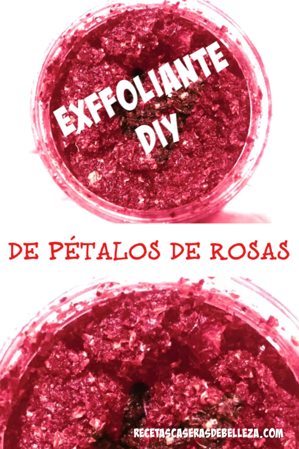 Hecho con pétalos de rosas secos, azúcar, aceite de coco, y aceites esenciales, este exfoliante DIY de pétalos de rosa se convertirá rápidamente en tu nuevo favorito! #exfoliantediy #exfoliantedepetalosderosa #recetascaserasdebelleza
