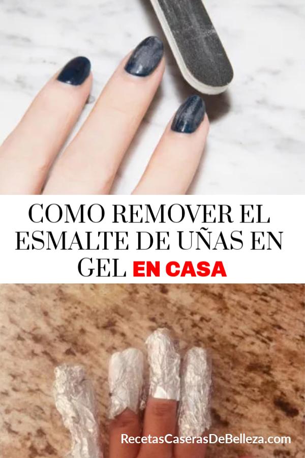 Claro, la  más segura y mejor manera de remover el esmalte de uñas en gel es removerlos en tu salón de uñas local, pero si no tienes el tiempo te enseñaremos como remover el esmalte de uñas en gel en casa! #recetascaserasdebelleza