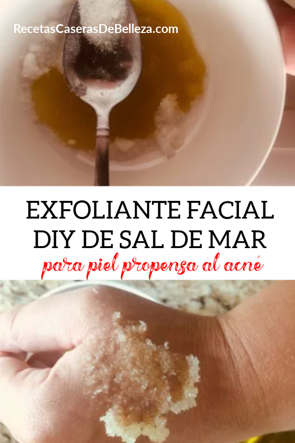 EXFOLIANTE FACIAL DIY DE SAL DE MAR