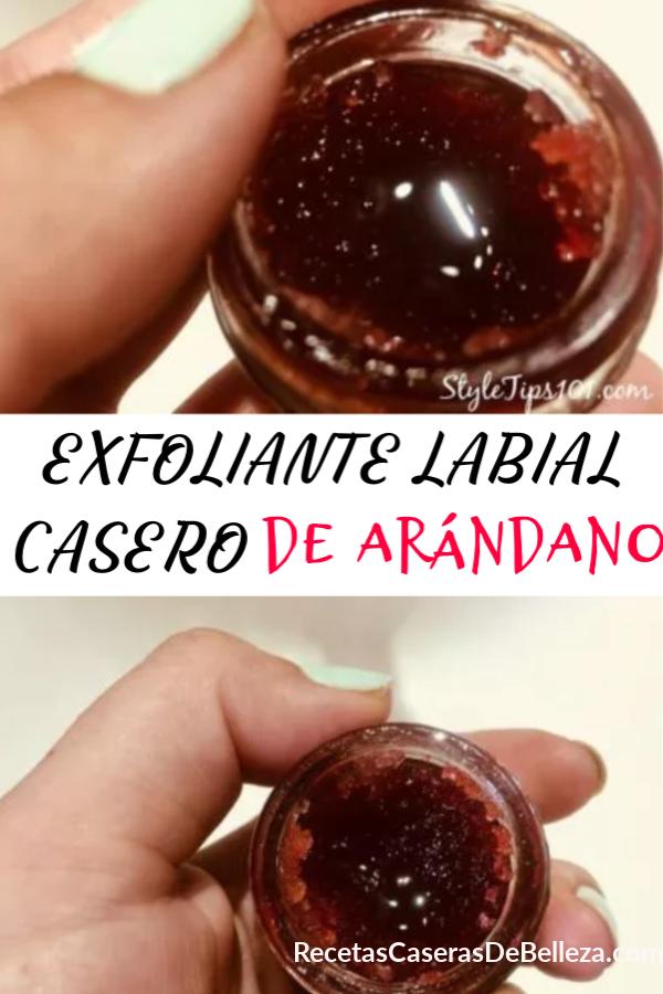 EXFOLIANTE LABIAL CASERO DE ARÁNDANO