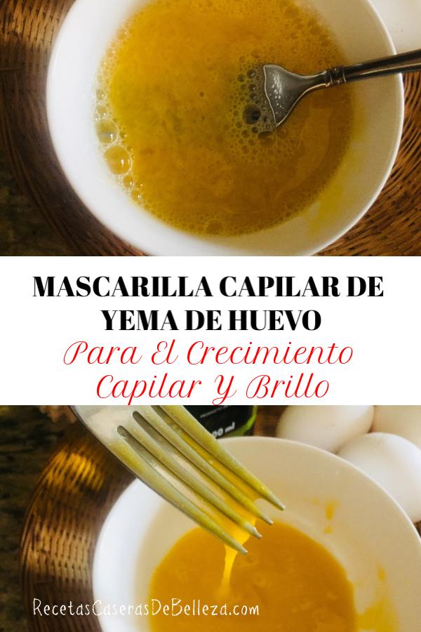 MASCARILLA CAPILAR DE YEMA DE HUEVO