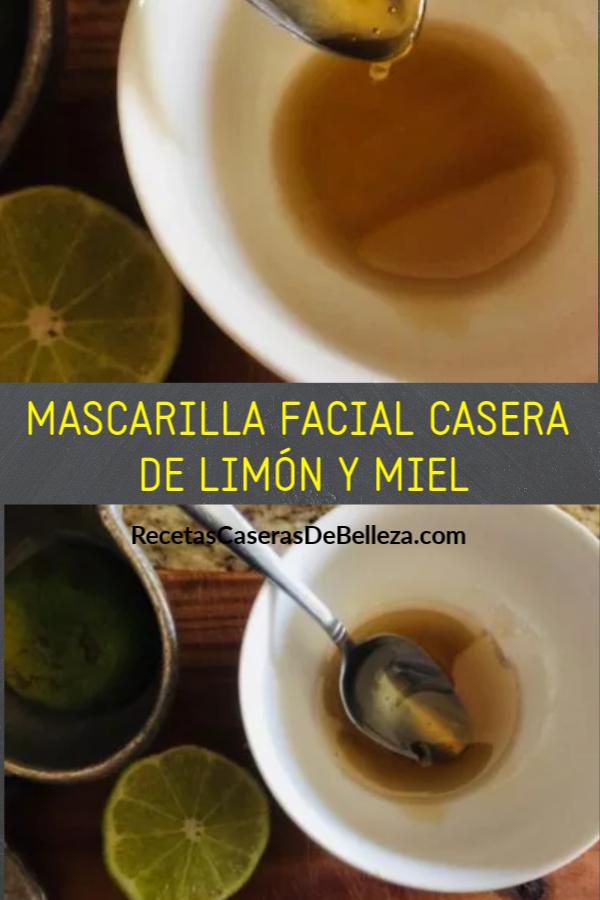 Formulada con solo dos ingredientes simples, esta poderosa mascarilla facial casera de miel y limón gentilmente removerá las células muertas de la piel. #mascarillafacial #recetascaserasdebelleza