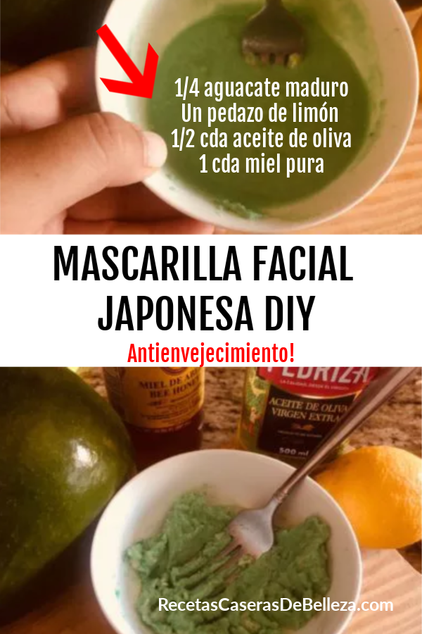 MASCARILLA FACIAL JAPONESA DIY