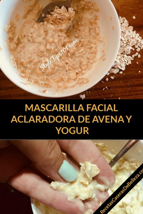 Mascarilla Facial DIY De Avena Y Yogur