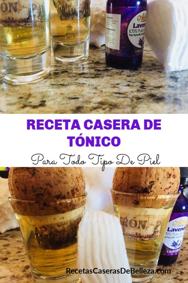 RECETA CASERA DE TÓNICO