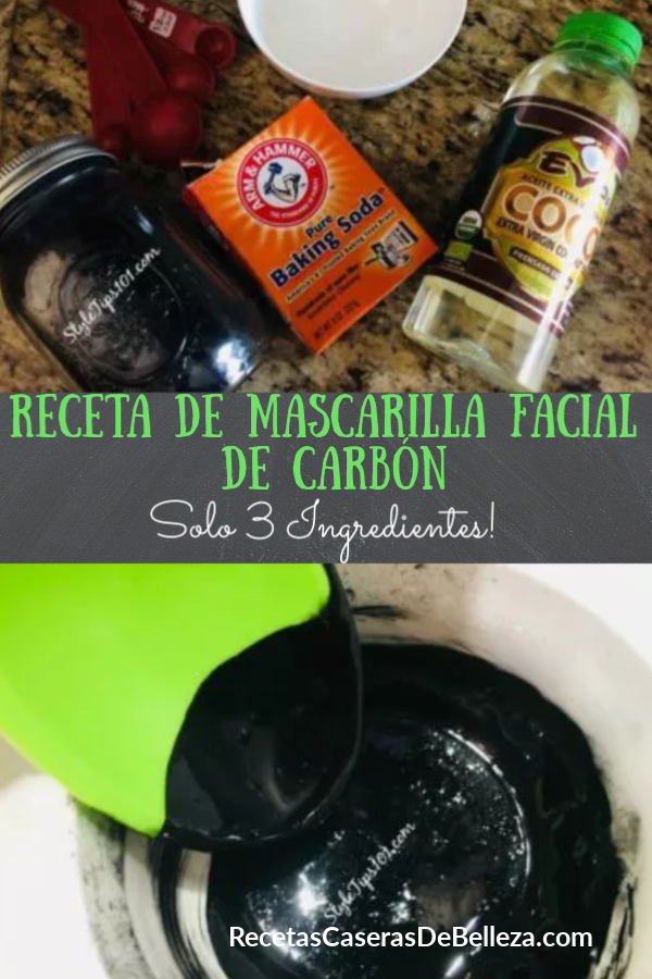 MASCARILLA FACIAL DE CARBÓN