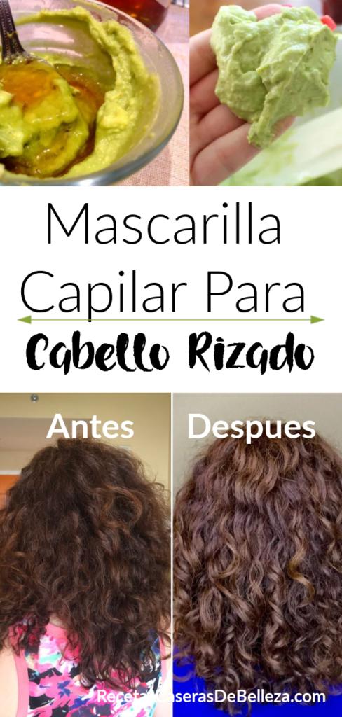 Mascarilla capilar para el cabello rizado
