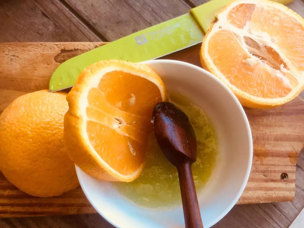 exfoliante de sal y citrico
